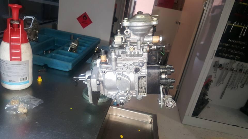 Fuel pump being rebuilt at Cooma Diesel