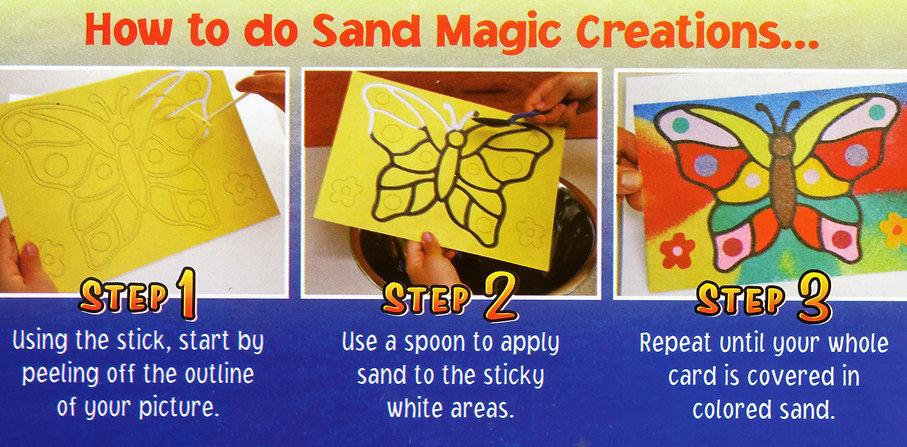 how to do sand magic
