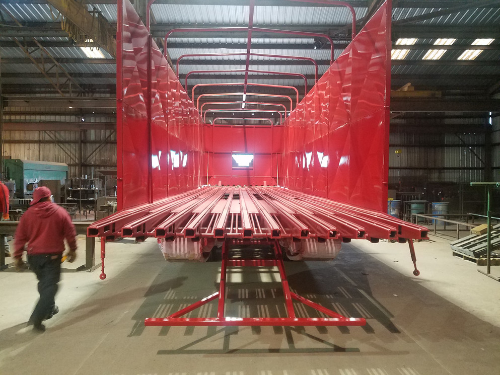Fabricated Cotton Trailer - Completed with Paint