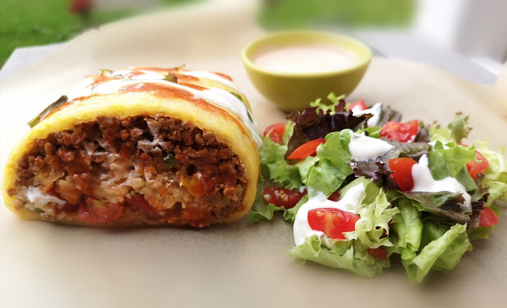 Keto burrito wrap