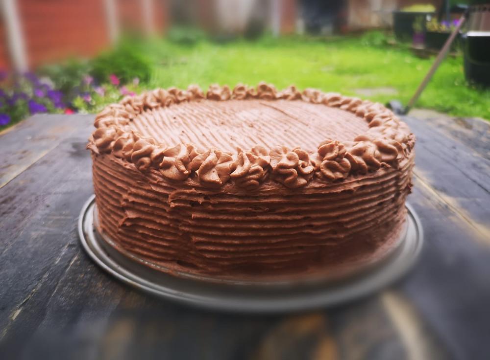 Low Carb Keto chocolate birthday cake