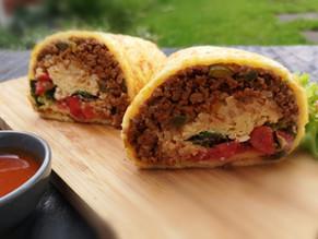 Keto beef burrito