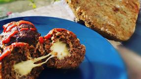 Keto Spicy Meatballs Stuffed With Mozzarella