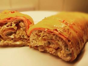 Cheese wrapped ham and tuna 🙌