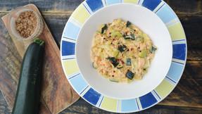 Tuna, smoked salmon, zucchini and leeks - Super food dinner