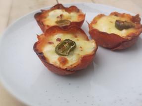 Pepperoni and feta muffins