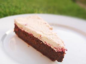 Easy keto chocolate & berries cake