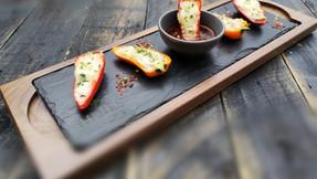 Mini bell peppers stuffed with tuna