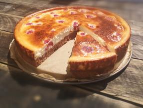 Quick keto raspberries cake