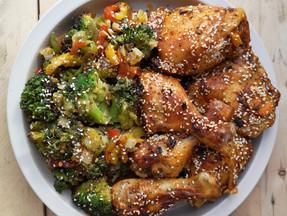 Keto chicken and veggies