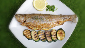 Crispy oven baked trout