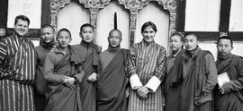 Abroad Executive with Monks