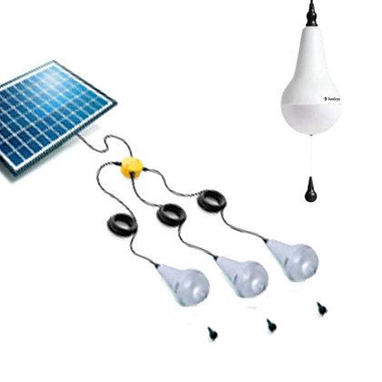Ulitium - 3 Light Kit with Solar Panel