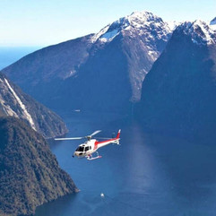 Helicopter Over Milford Sound