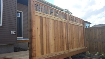 Robertson Contracting Calgary - cedar fence panel