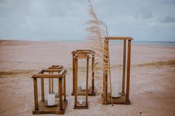 lanternas casamento praia