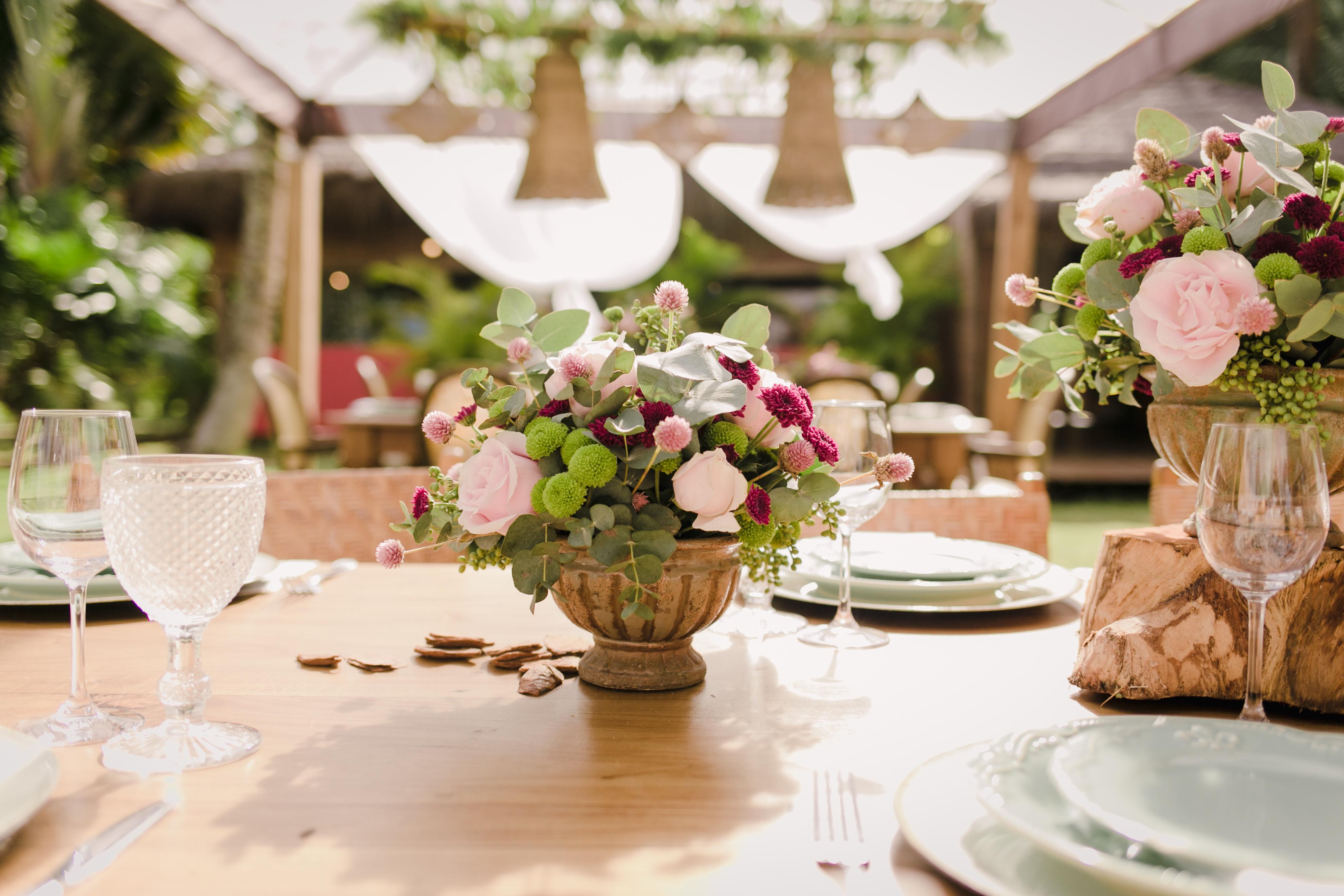 flores casamento romantico
