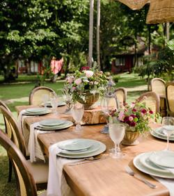 mesa posta romantica