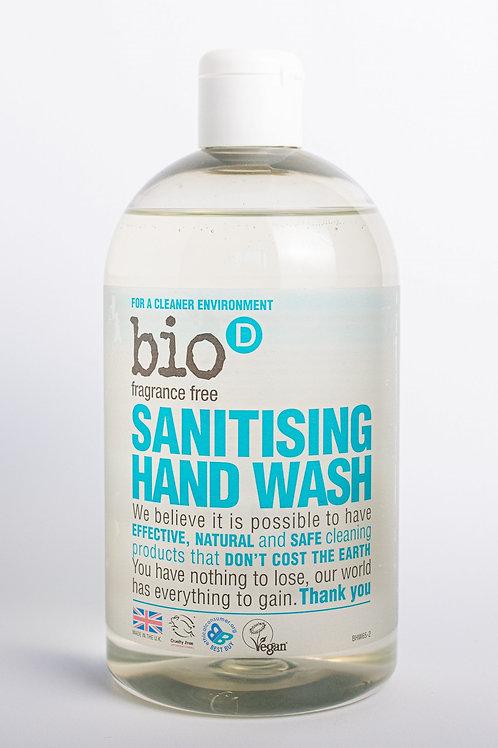 Bio D Fragrance Free Sanitising Handwash 250ml REFILL