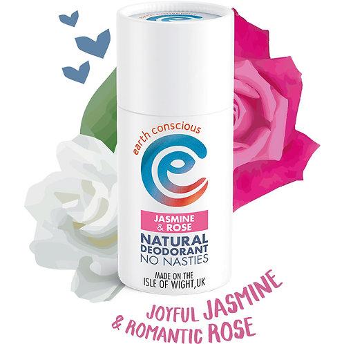 Earth Concious Deodorant Stick - Jasmine & Rose