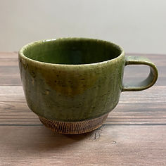 kushisabi coffee mug green_30.JPG