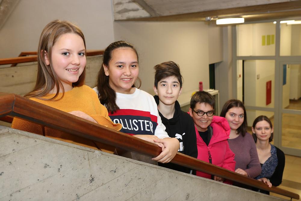 SchülersprecherInnen mit den Vertrauenslehrerinnen