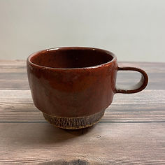 kushisabi coffee mug brown_red_30.JPG
