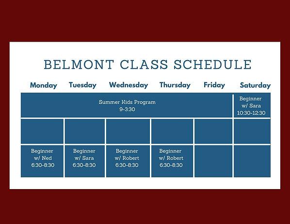 Belmont Class Schedule.jpg