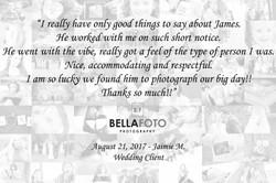 quote 16 - jaimie m - wedding