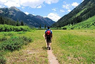man-walking-on-field-between-grass-durin
