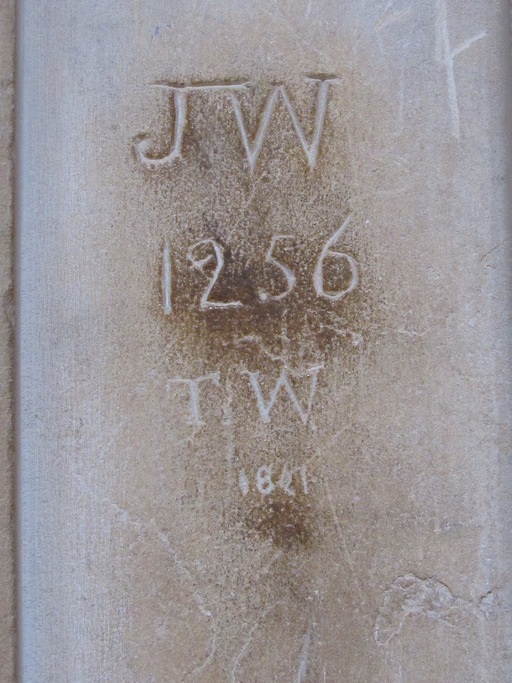 graffiti from 1256 and 1821 at Lincoln Cathedral
