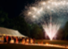 Vermont wedding fireworks