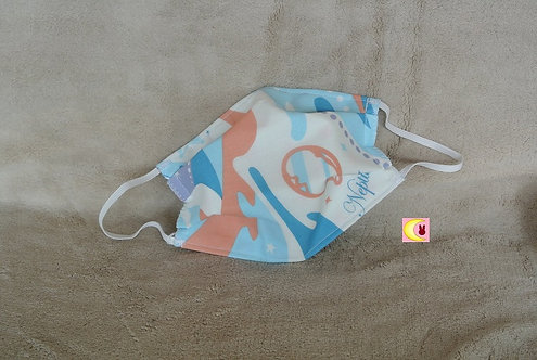 masque barrière sailor neptune avec tissu miroir ouvert