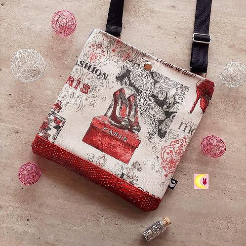 sac à main fait en france lady paris stilettos style louboutin rouge croco