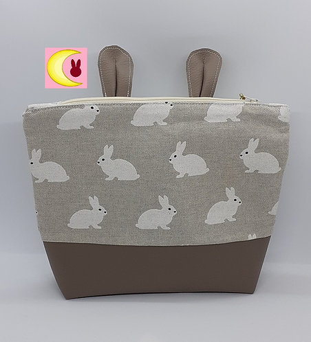 Trousse à maquillage White Bunny toilette