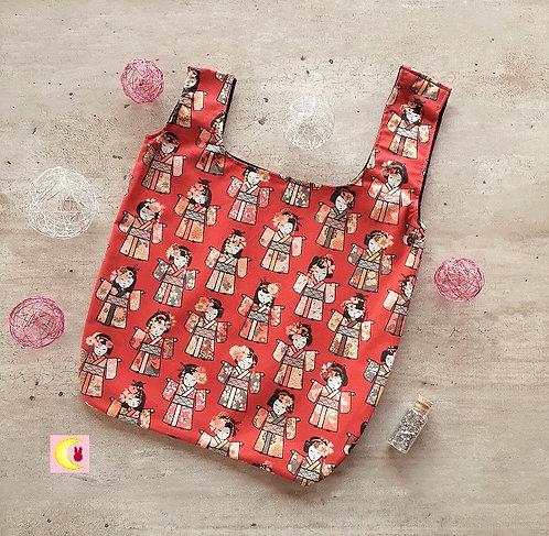 knotbag sac japonais vue de face à plat