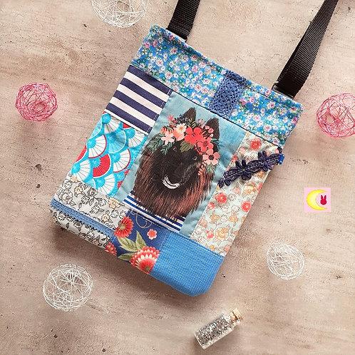 sac pat'chien patchwork de coton imprimé japonais japon