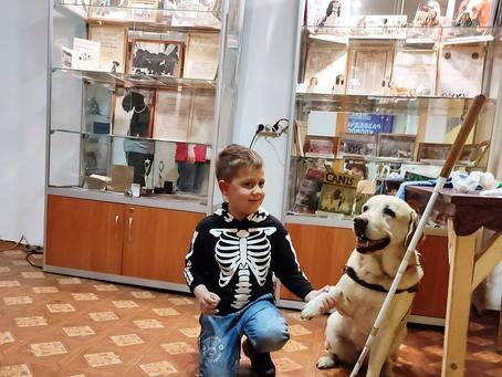 Собака-поводырь Диана снова у нас в музее