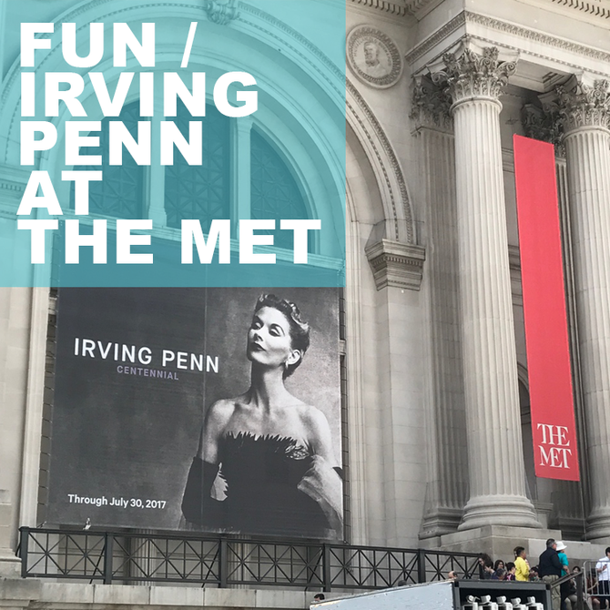 FUN / Irving Penn at The Met