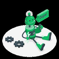 Oops! 404 Error with a broken robot-amic