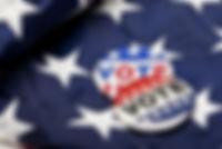 boutons de vote sur le drapeau