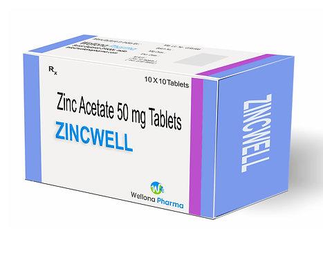 Zinc acetate tablet