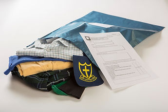 We will send you an addressed mailing bag and a form with a check list.