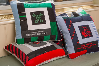 Buy bespoke  handmade school patchwork cushions