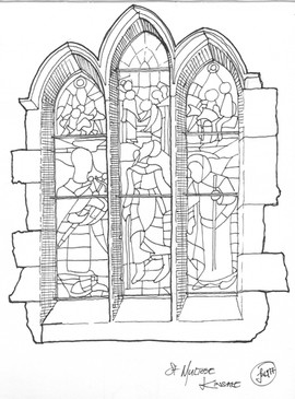 Stained Glass Window St Multose Kinsale.