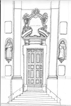 Entrance Santa Maria della Vita Bologna.