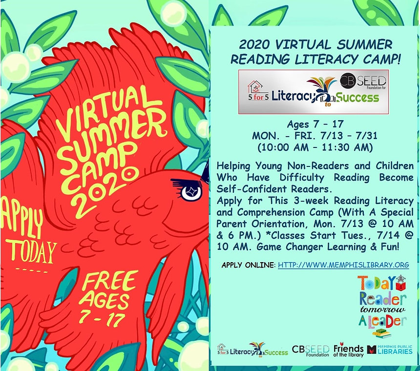 Both Virtual Reading Summer Camp Flyers