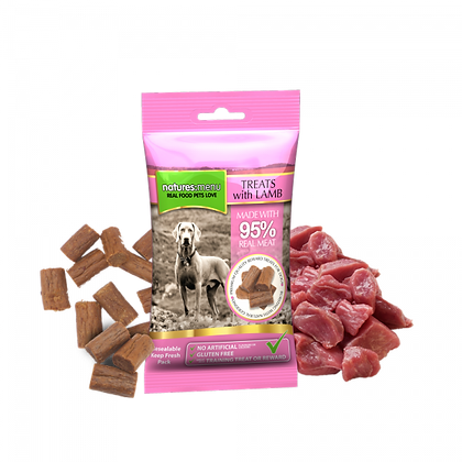 Real Meaty Dog Treats with Lamb and Chicken