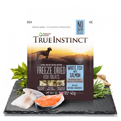 Freeze Dried Dog Treats White Fish with Salmon