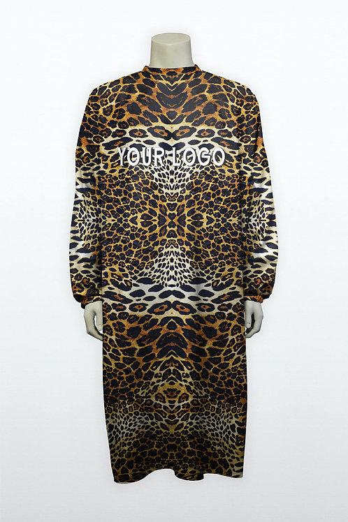 Blouse unconventional leopard